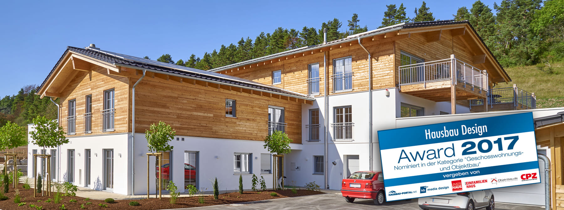 Appartementhaus in Holz
